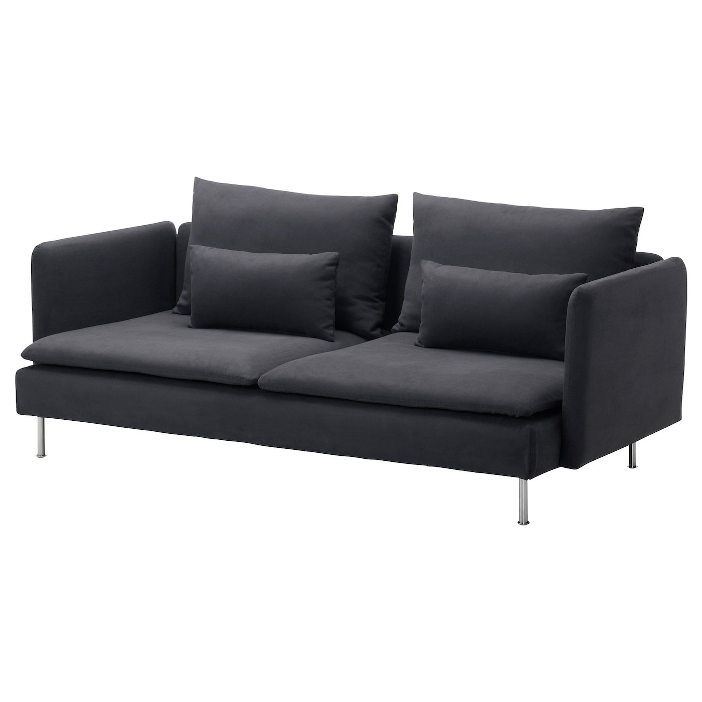 S derhamn three seat sofa samsta dark grey ikea for Canape ikea cuir