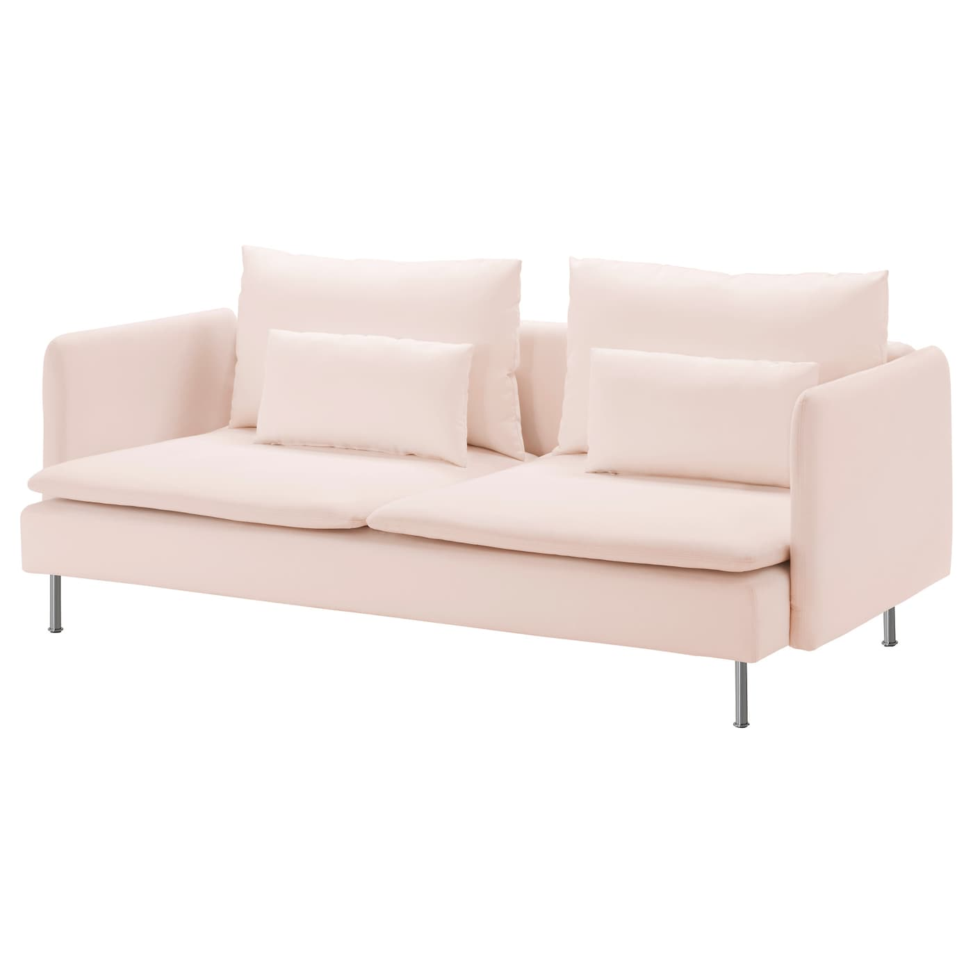 S derhamn three seat sofa samsta light pink ikea for Sofa jugendzimmer ikea