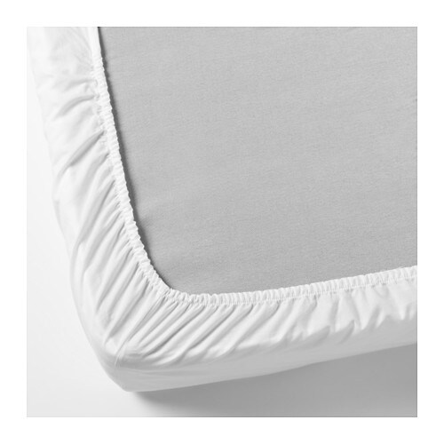 s mnig fitted sheet white 140x200 cm ikea. Black Bedroom Furniture Sets. Home Design Ideas