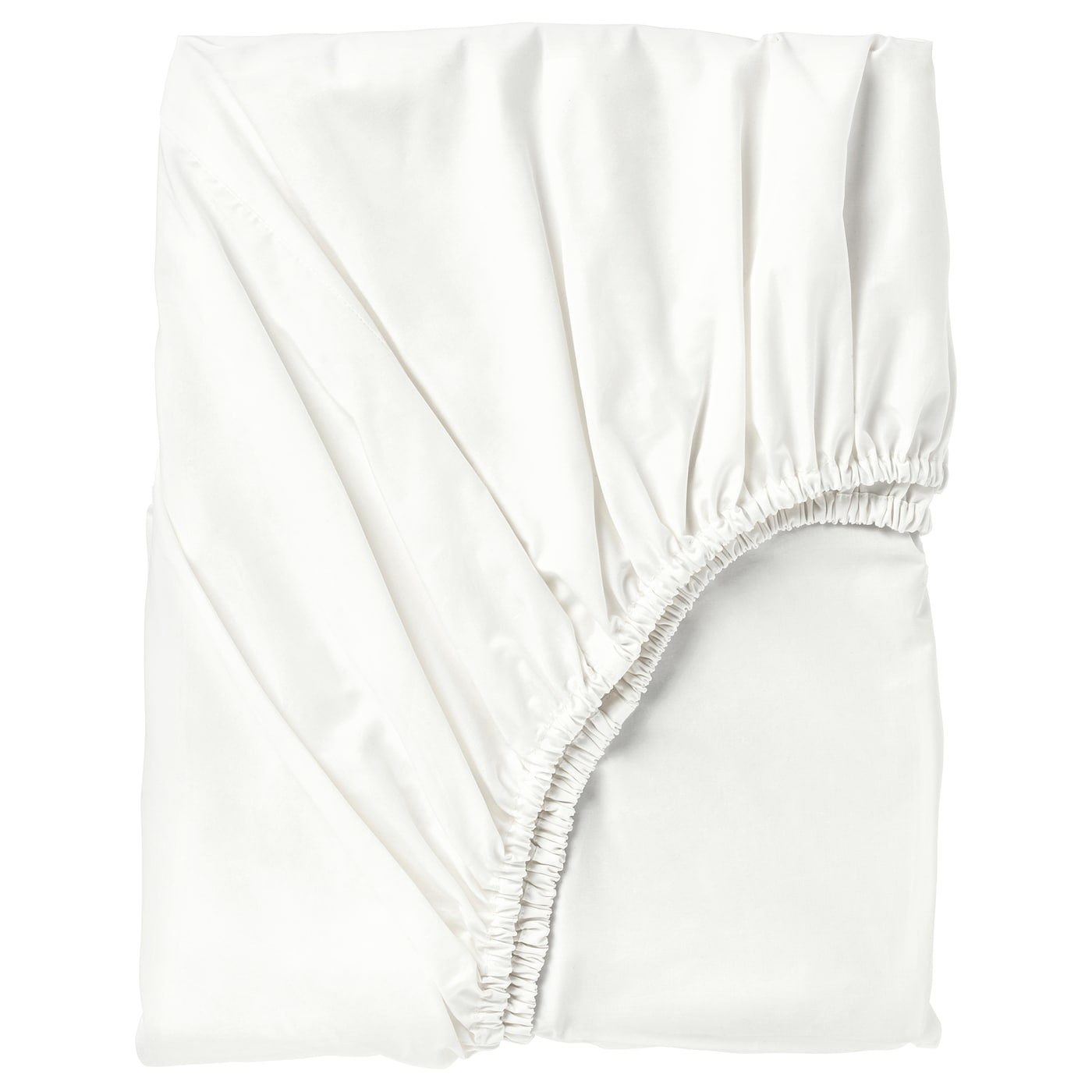 IKEA SÖMNTUTA fitted sheet Made in 100% cotton - a natural and durable material.