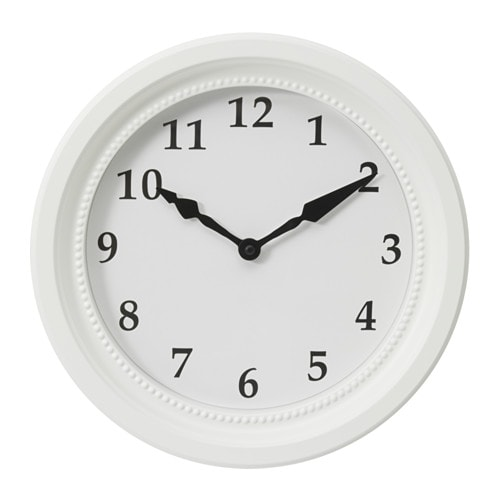 IKEA SÖNDRUM wall clock Highly accurate at keeping time as it is fitted with a quartz movement.