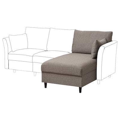 SÄLLERYD Chaise longue section, grey