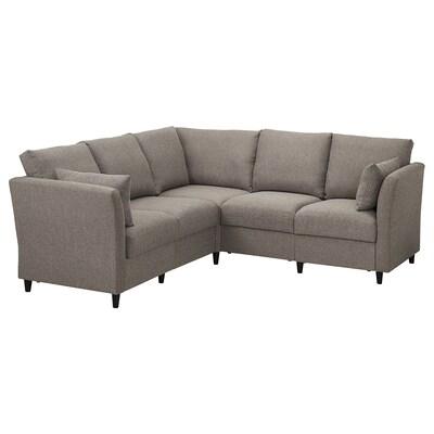 SÄLLERYD Corner sofa, 5-seat, grey