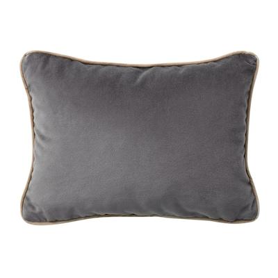 SAGALIE Cushion cover, velvet grey, 30x40 cm