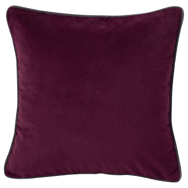 SAGALIE Cushion cover, velvet purple/dark blue, 50x50 cm