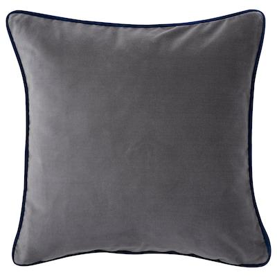 SAGALIE Cushion cover, velvet purple/grey, 50x50 cm
