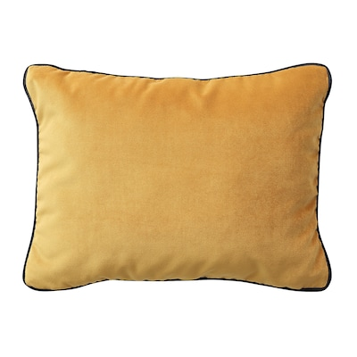 SAGALIE Cushion cover, velvet yellow, 30x40 cm
