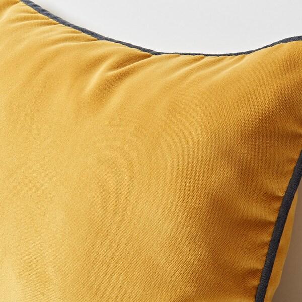 SAGALIE Cushion cover, velvet yellow, 30x40 cm