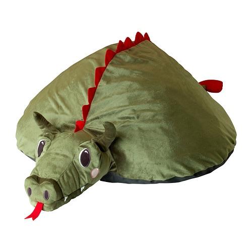 Sale alerts for Ikea SAGODRAKE Cover for air element, dragon, green - Covvet
