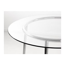 Salmi table glass chrome plated 105 cm ikea - Table ronde en verre ikea ...