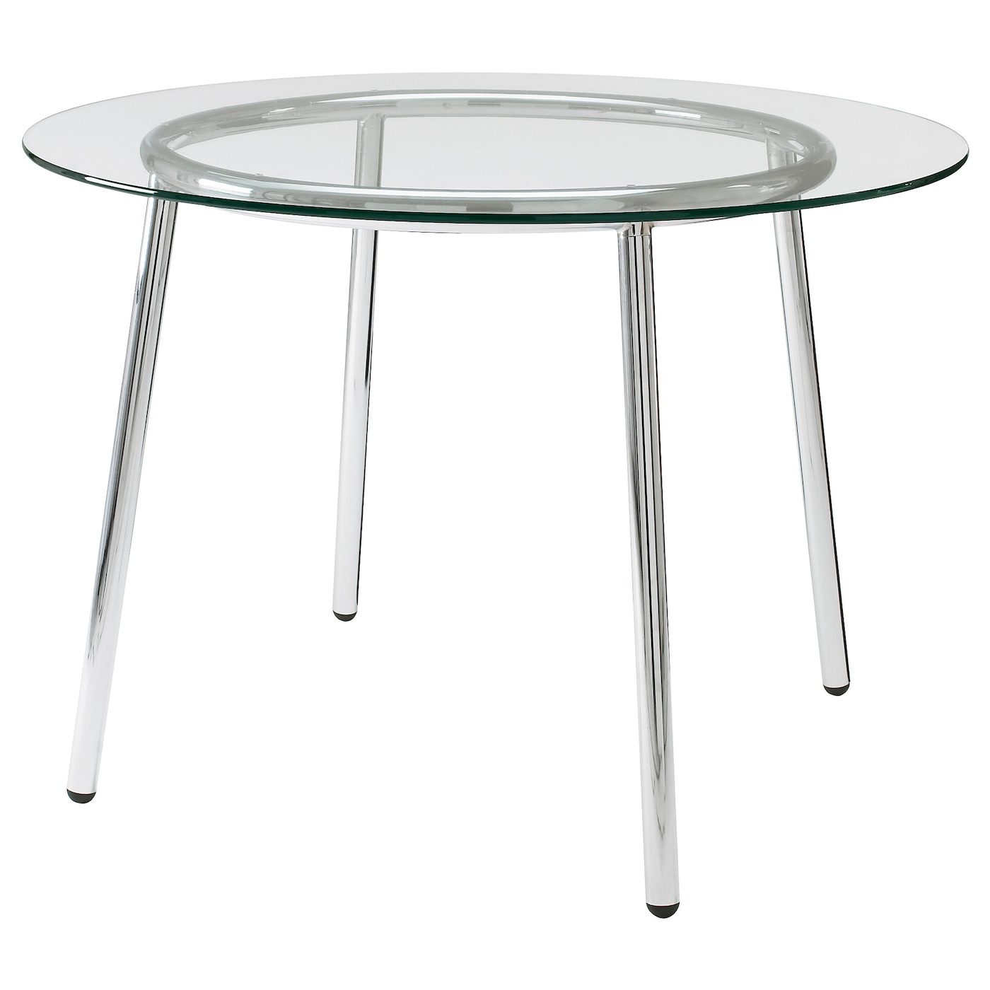 salmi table glass chrome plated 105 cm ikea