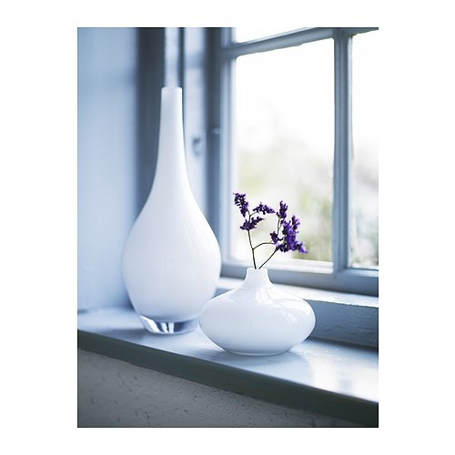 salong vase white 31 cm ikea
