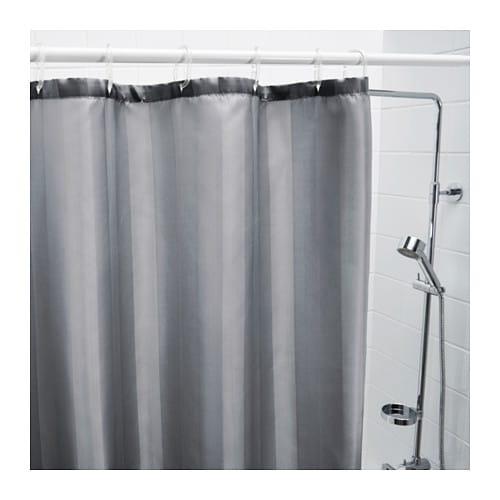 SALTGRUND Shower Curtain Grey 180x180 Cm IKEA