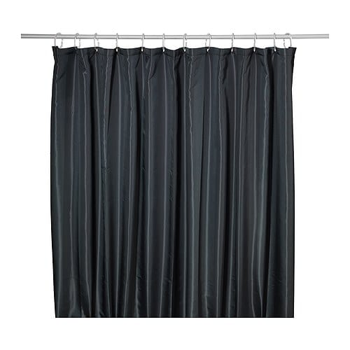 SALTGRUND Shower curtain IKEA Two-sided woven polyester; gives a shower curtain a soft fall and a decorative pattern on both sides.