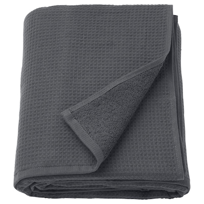 SALVIKEN Bath sheet, anthracite, 100x150 cm