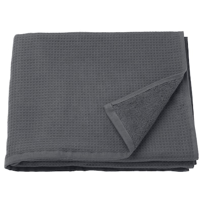 SALVIKEN Bath towel, anthracite, 70x140 cm