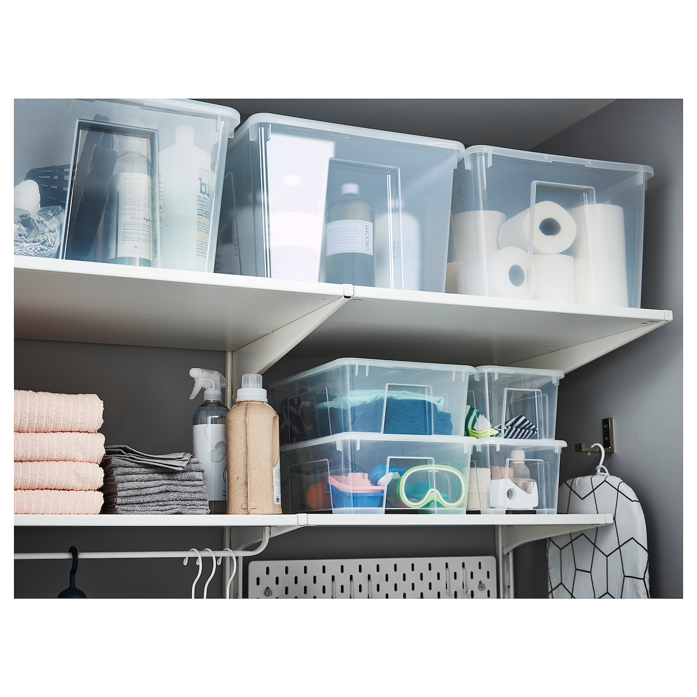 IKEA SAMLA box Perfect for sports equipment, gardening tools or laundry and cleaning accessories.