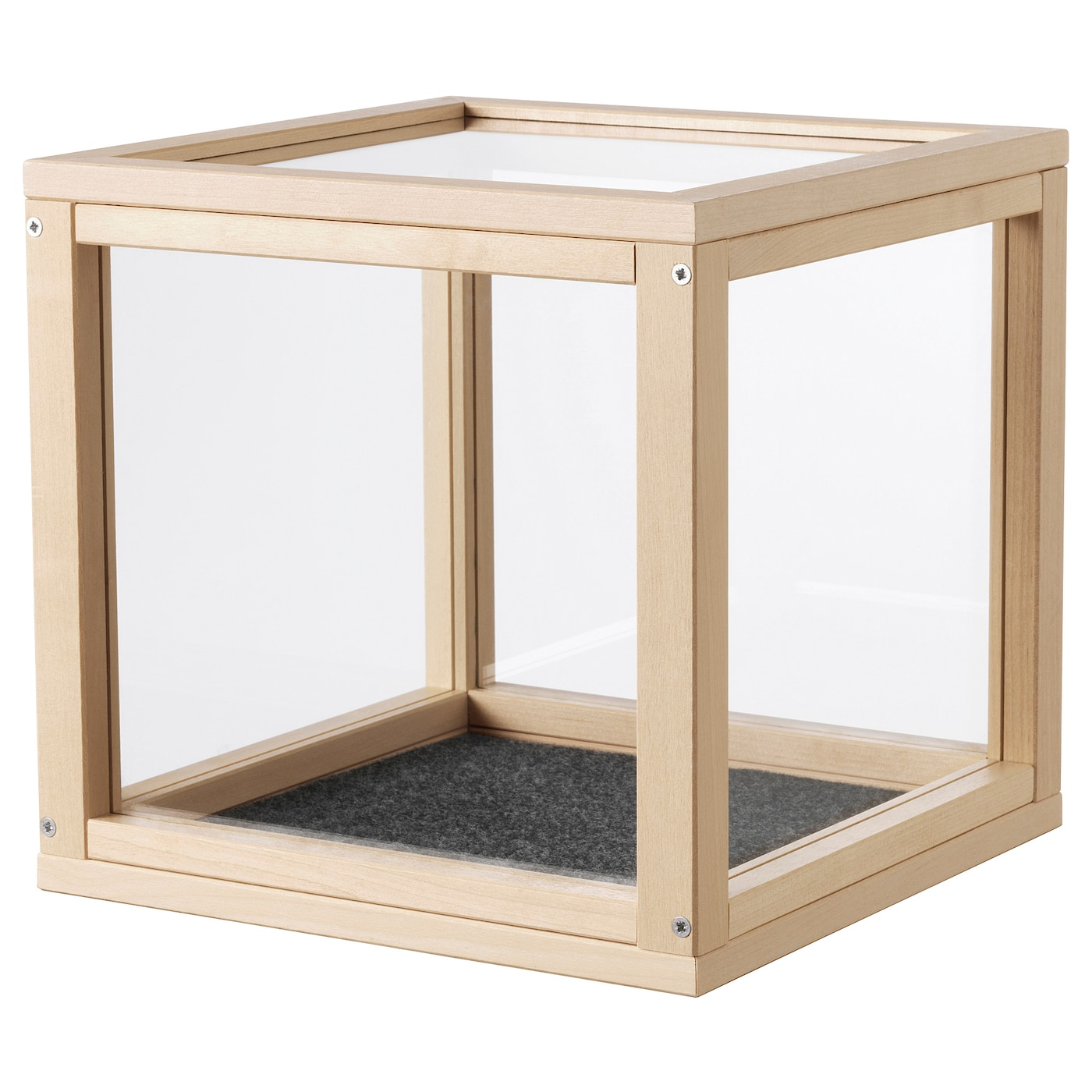 IKEA SAMMANHANG display box You easily protect your fragile things by using the included felt pad.