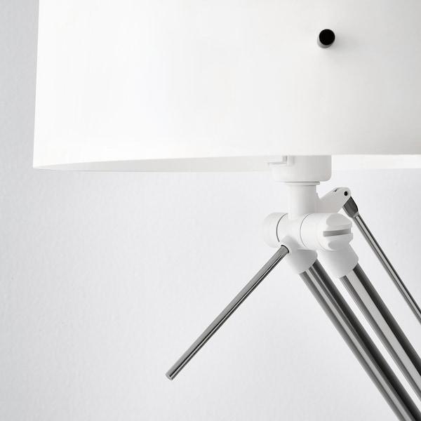 SAMTID Floor/reading lamp, nickel-plated/white