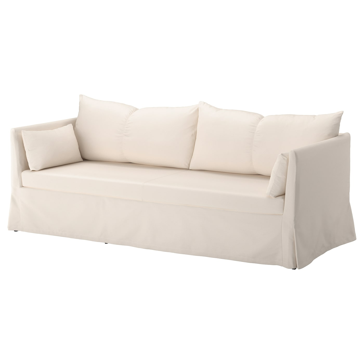 IKEA SANDBACKEN 3-seat sofa You sit comfortably thanks to the resilient foam and springy seat.