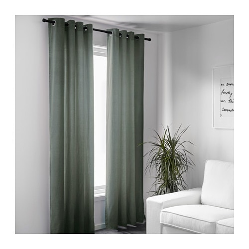 Green And Gray Curtains - Curtains Design Gallery
