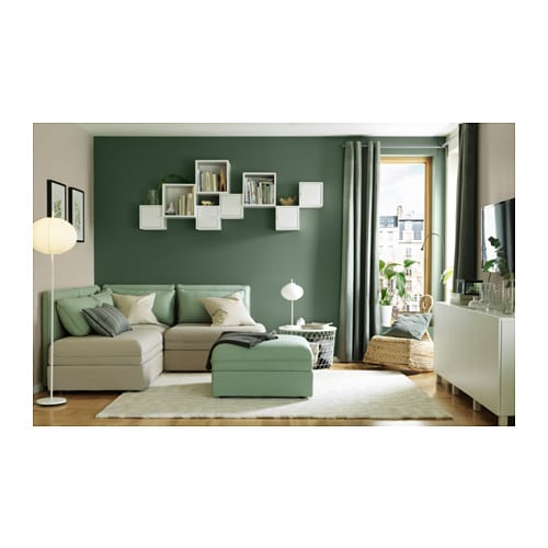 sanela curtains 1 pair grey green 140x250 cm ikea. Black Bedroom Furniture Sets. Home Design Ideas