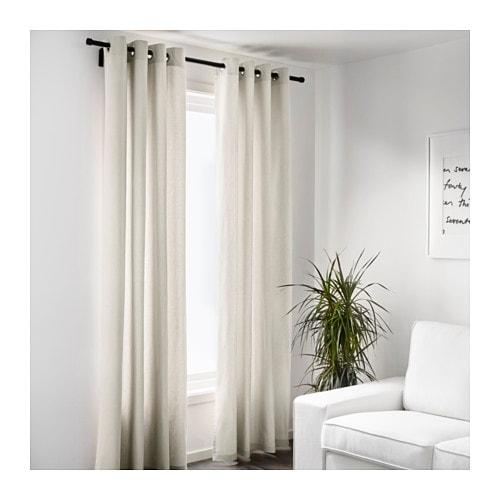 IKEA SANELA curtains, 1 pair Cotton velvet gives depth to the colour ...