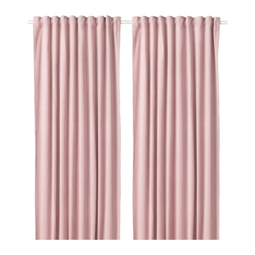 Ikea Sanela Curtains 1 Pair Cotton Velvet Gives Depth To The Colour And Softness To