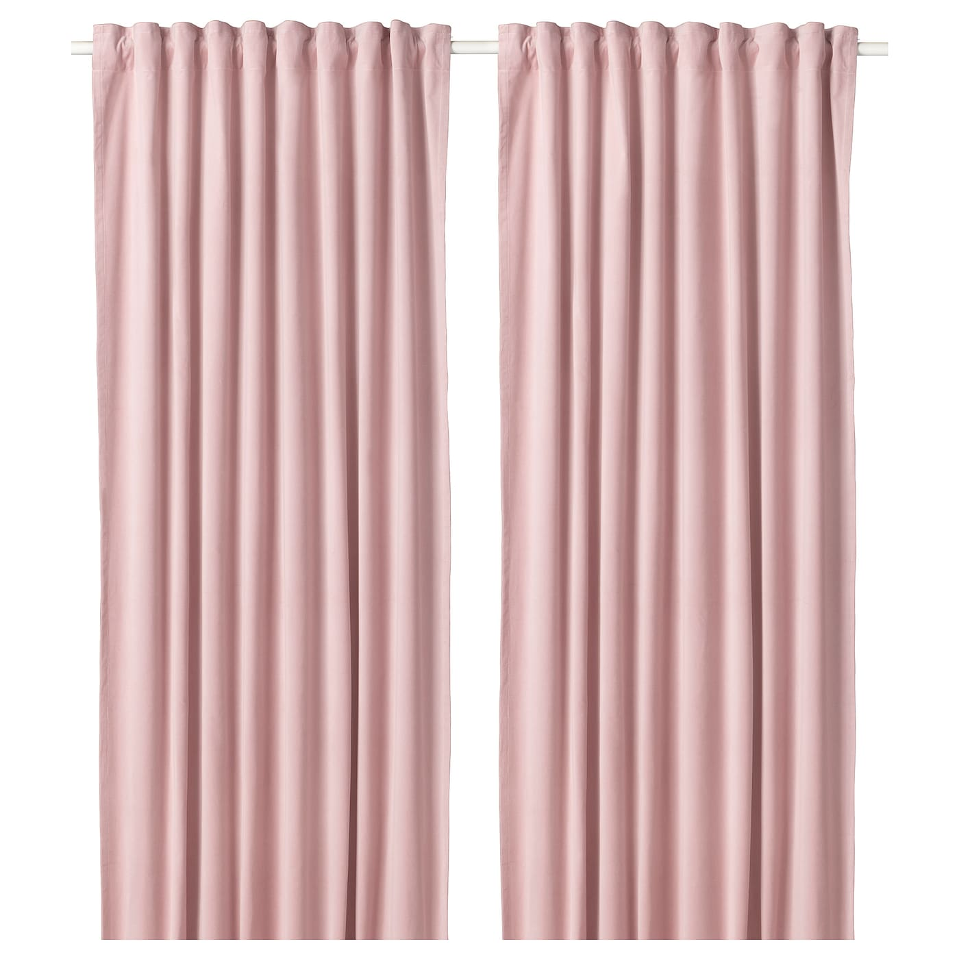 Ikea Sanela Curtains 1 Pair Cotton Velvet Gives Depth To The Colour And Softness