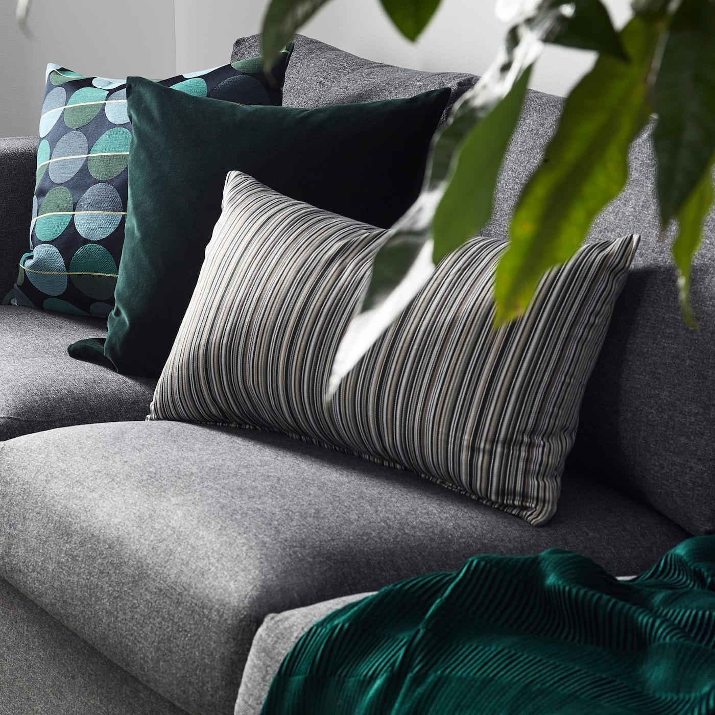 Sanela Dark Green Cushion Cover Ikea