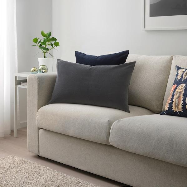 SANELA Cushion cover, dark grey, 40x65 cm