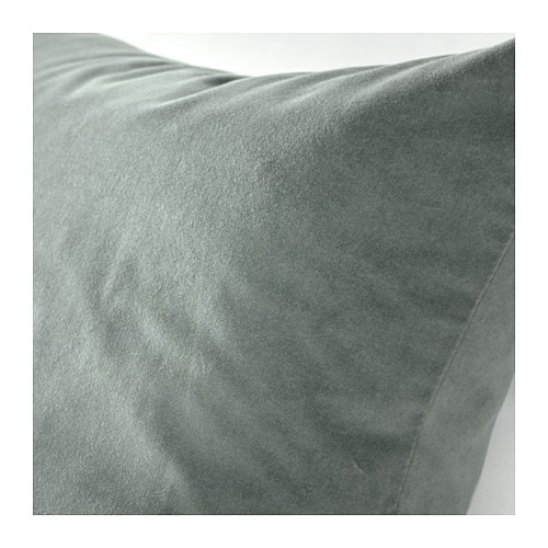sanela cushion cover grey green 50x50 cm ikea. Black Bedroom Furniture Sets. Home Design Ideas