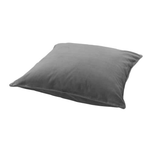 SANELA Cushion cover IKEA Cotton velvet gives depth to the colour and softness to the touch.  The zipper makes the cover easy to remove.