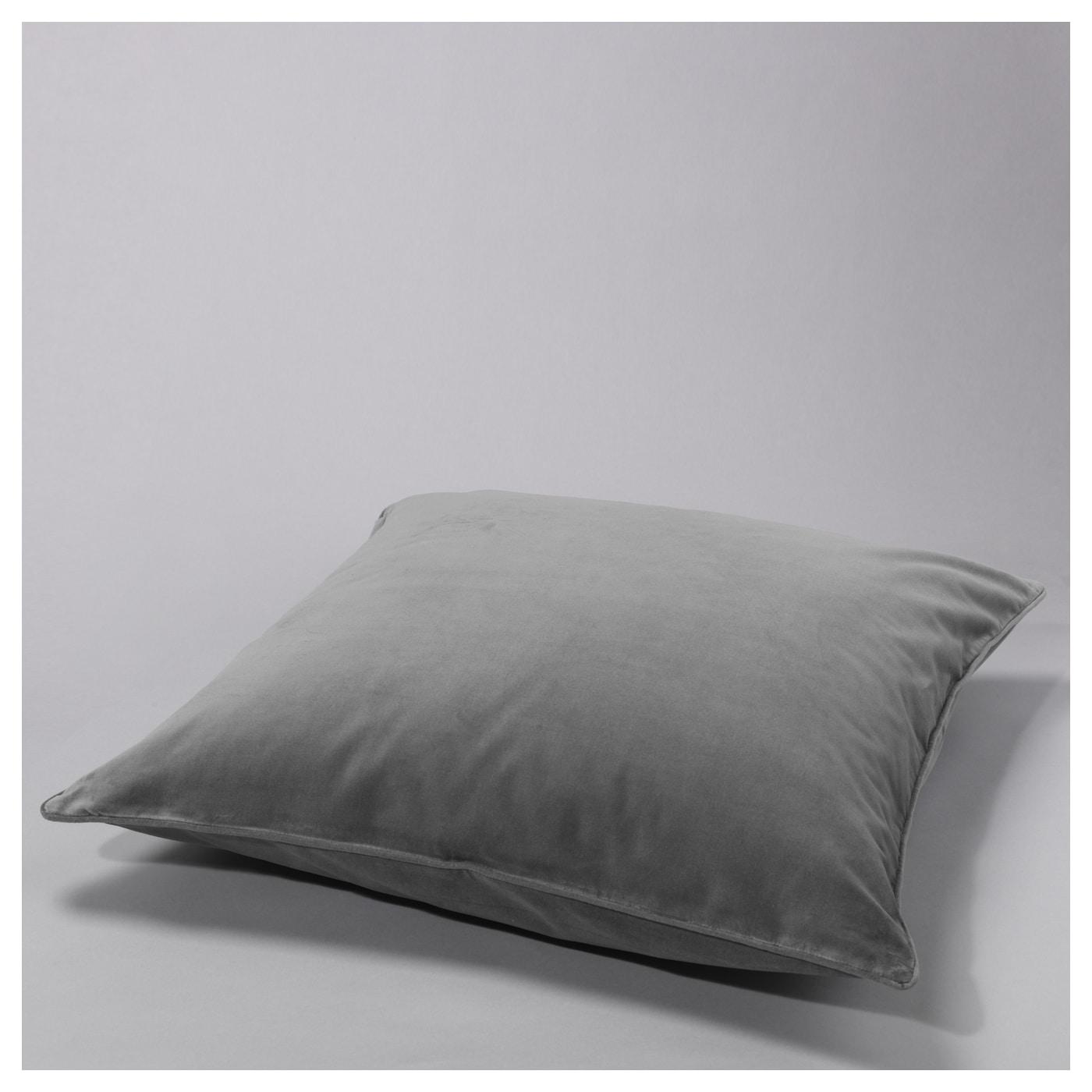 SANELA Cushion cover Grey 65x65 cm IKEA