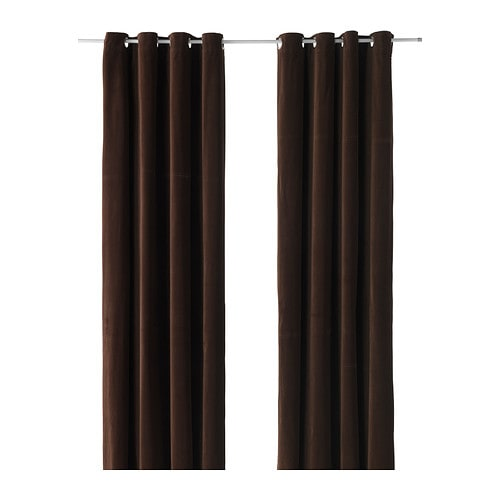 SANELA Curtains, 1 pair IKEA Thick fabric helps to darken the room and reduce sound.