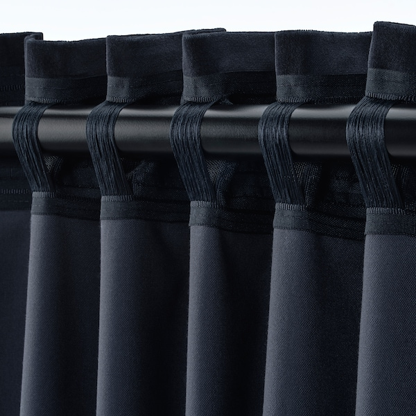SANELA room darkening curtains, 1 pair dark blue 250 cm 140 cm 2.13 kg 3.50 m² 2 pack