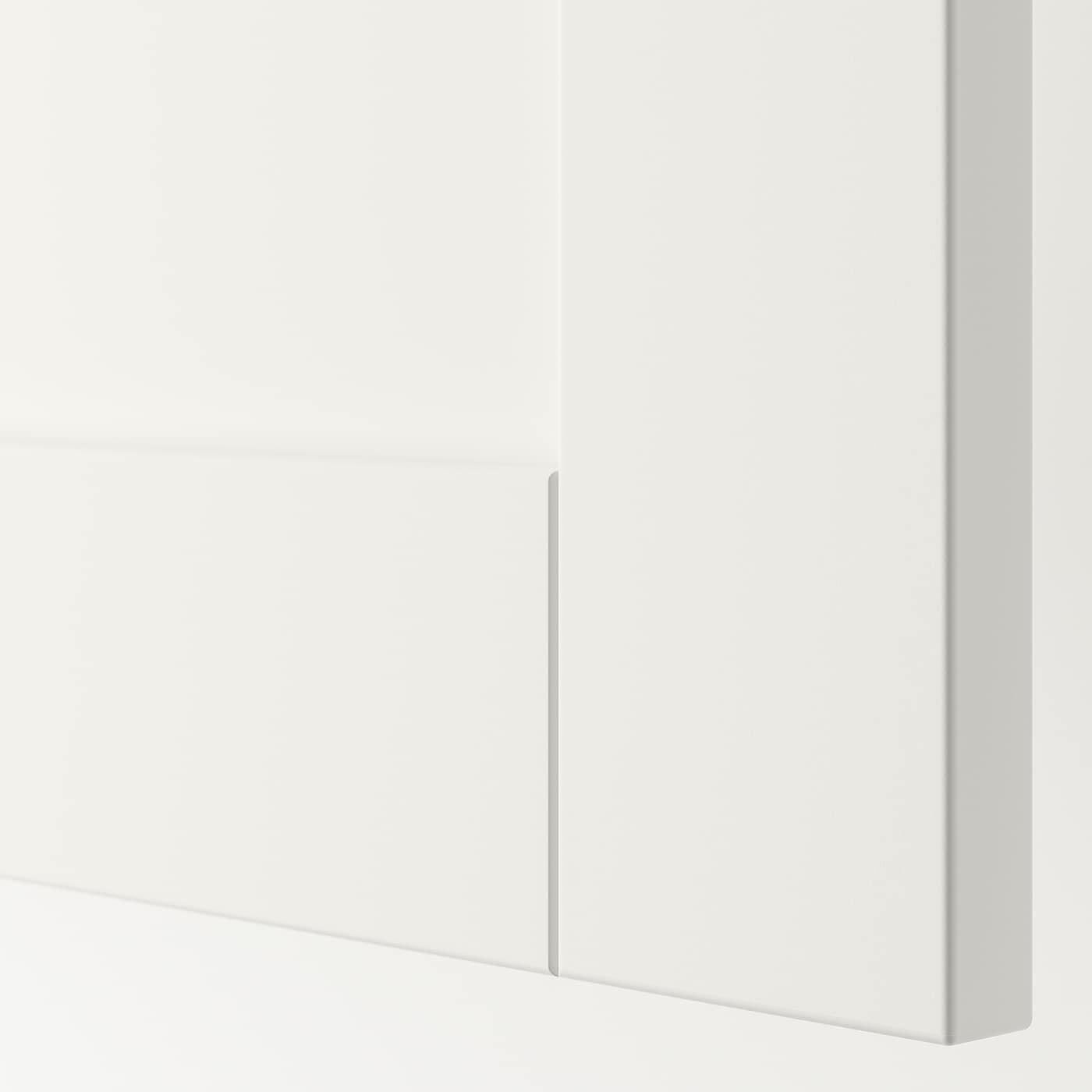 SANNIDAL Door with hinges, white, 40x60 cm