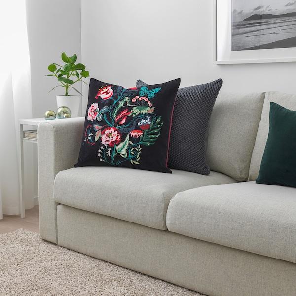 SARALENA Cushion, black/multicolour, 50x50 cm