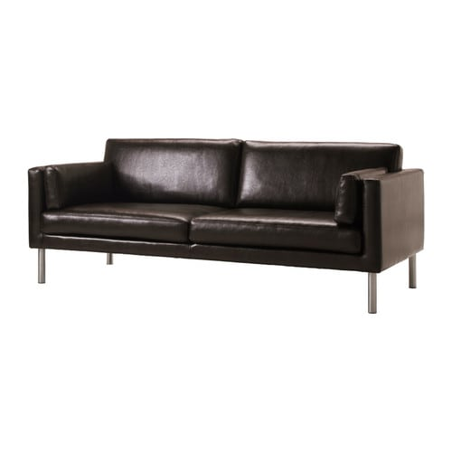 SÄTER 2.5-seat sofa IKEA Durable, easy care split leather; practical for families with children.