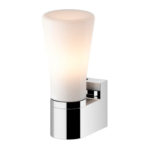 SÄVERN Wall lamp IKEA Diffused light; gives a general light.  Mouth blown glass; each lamp is unique.