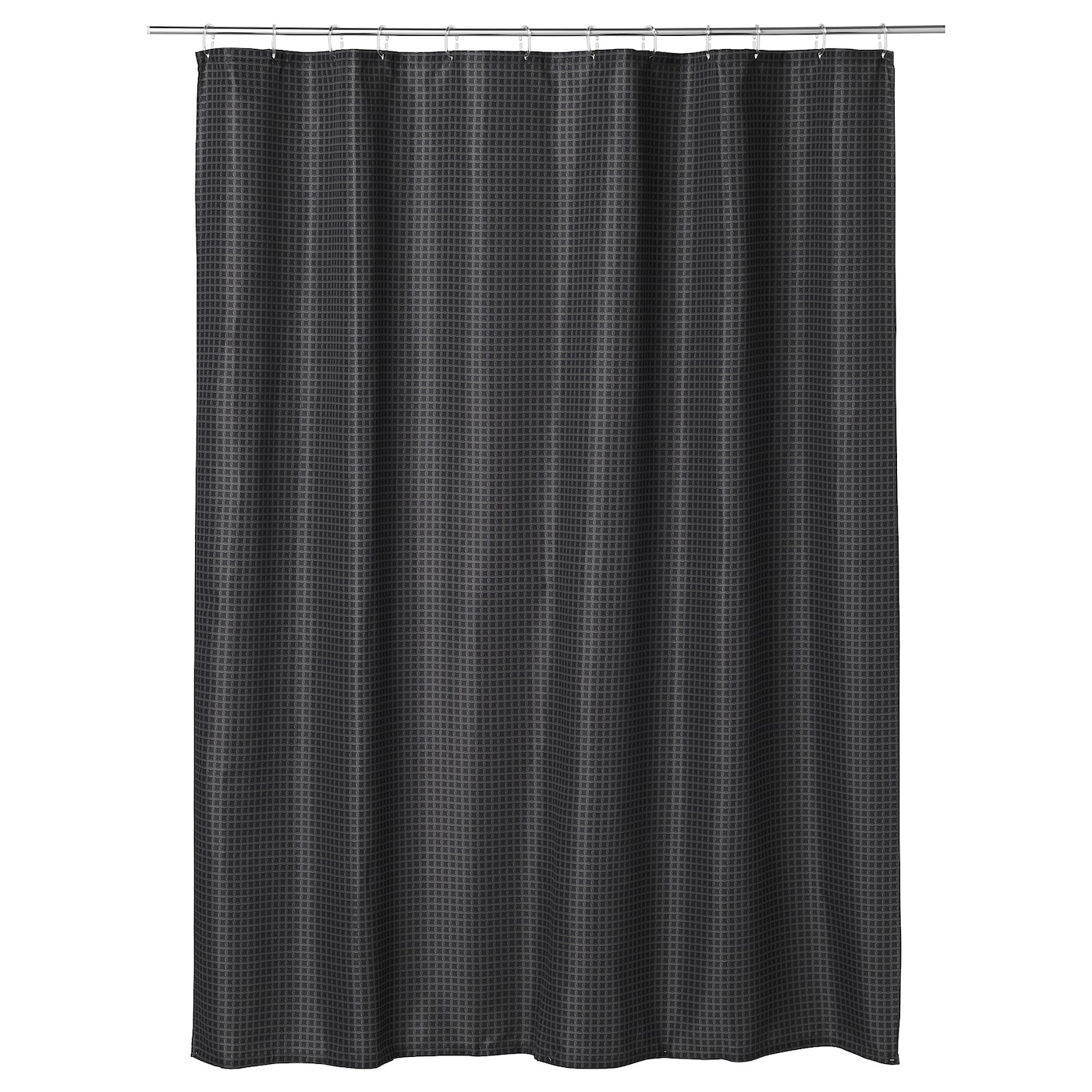 IKEA SAXLVEN Shower Curtain Densely Woven Polyester Fabric With Water Repellent Coating