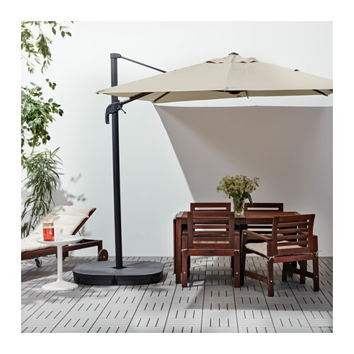 seglar svart parasol hanging with base tilting beige. Black Bedroom Furniture Sets. Home Design Ideas