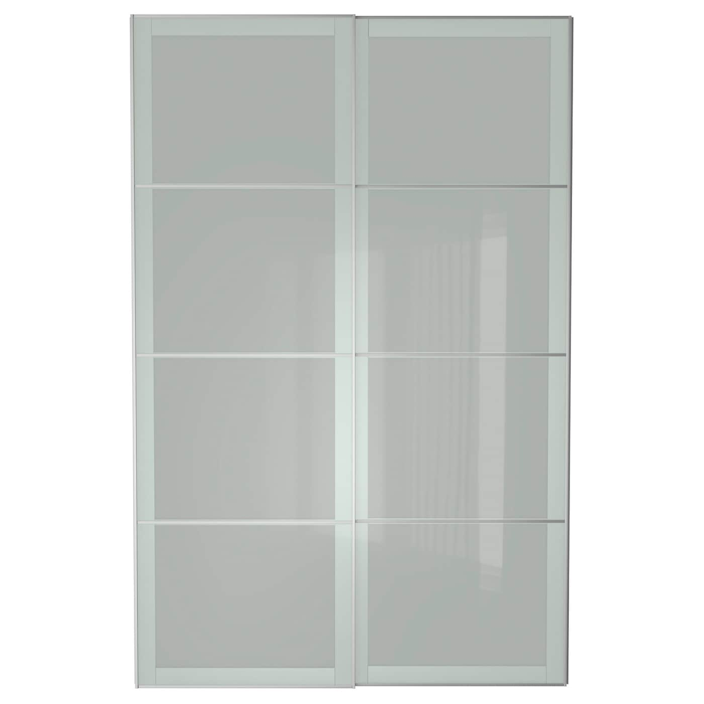 Sekken Pair Of Sliding Doors Frosted Glass 150 X 236 Cm Ikea