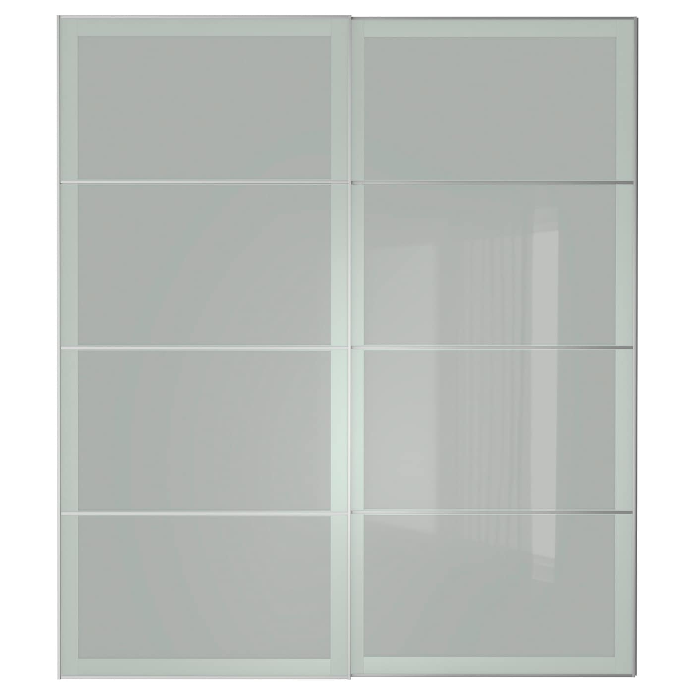 Schwebetürenschrank ikea  SEKKEN Pair of sliding doors Frosted glass 200x236 cm - IKEA