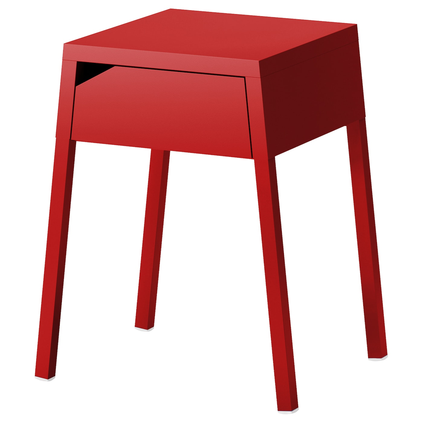 Selje bedside table red 46x37 cm ikea for Table en pin ikea