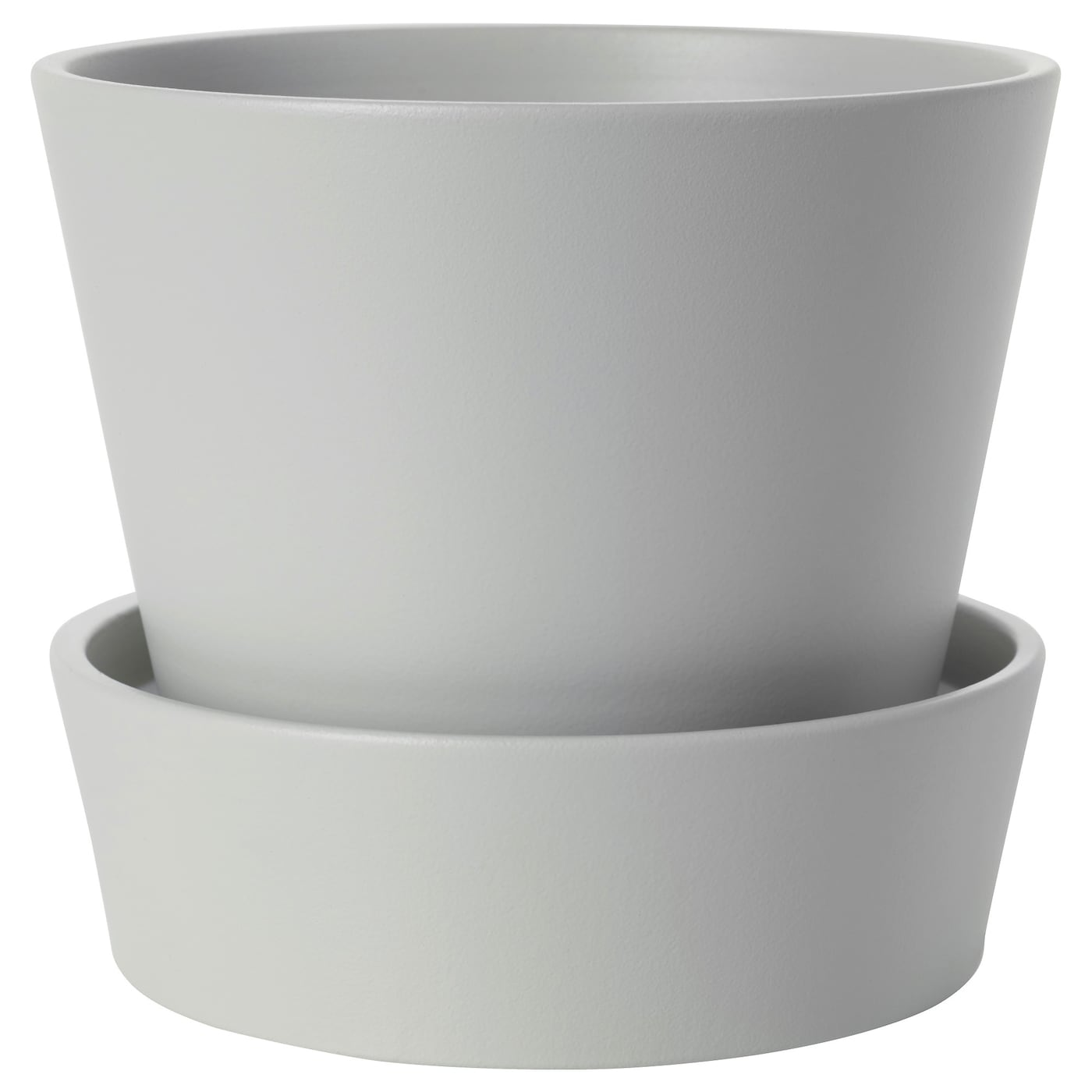 senap plant pot with saucer grey 12 cm ikea. Black Bedroom Furniture Sets. Home Design Ideas