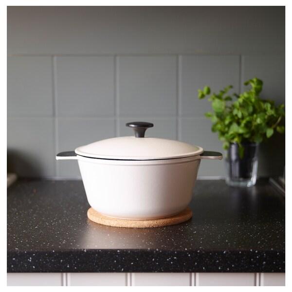SENIOR casserole with lid off-white 30 cm 24 cm 11 cm 3 l