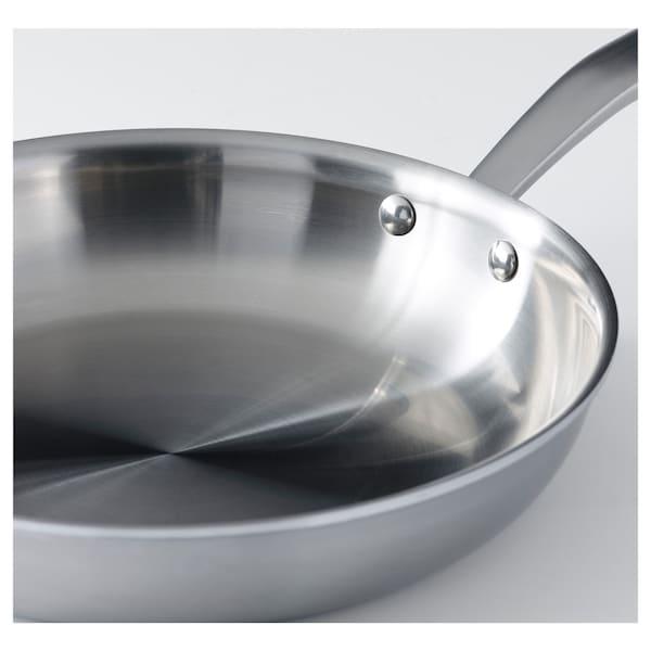 SENSUELL 4-piece cookware set, stainless steel/grey