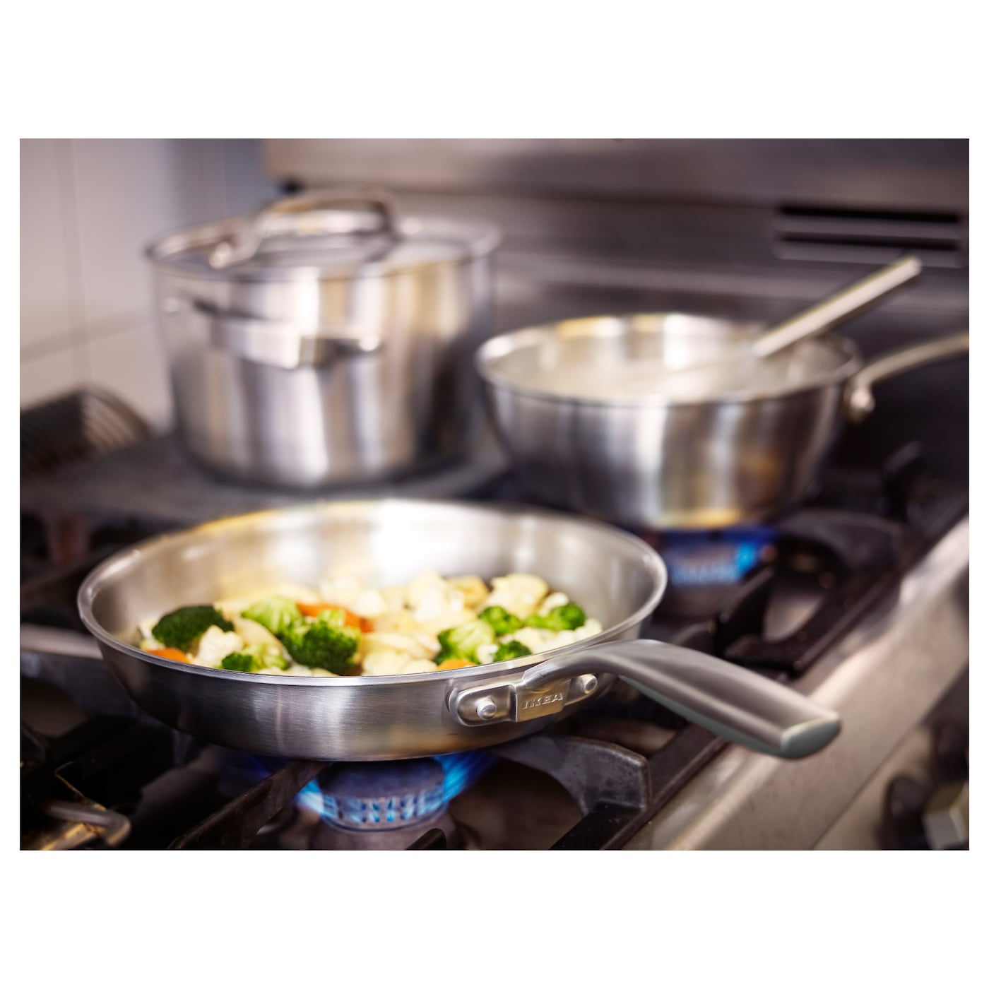 IKEA SENSUELL 4-piece cookware set Works well on all types of hobs, including induction hob.