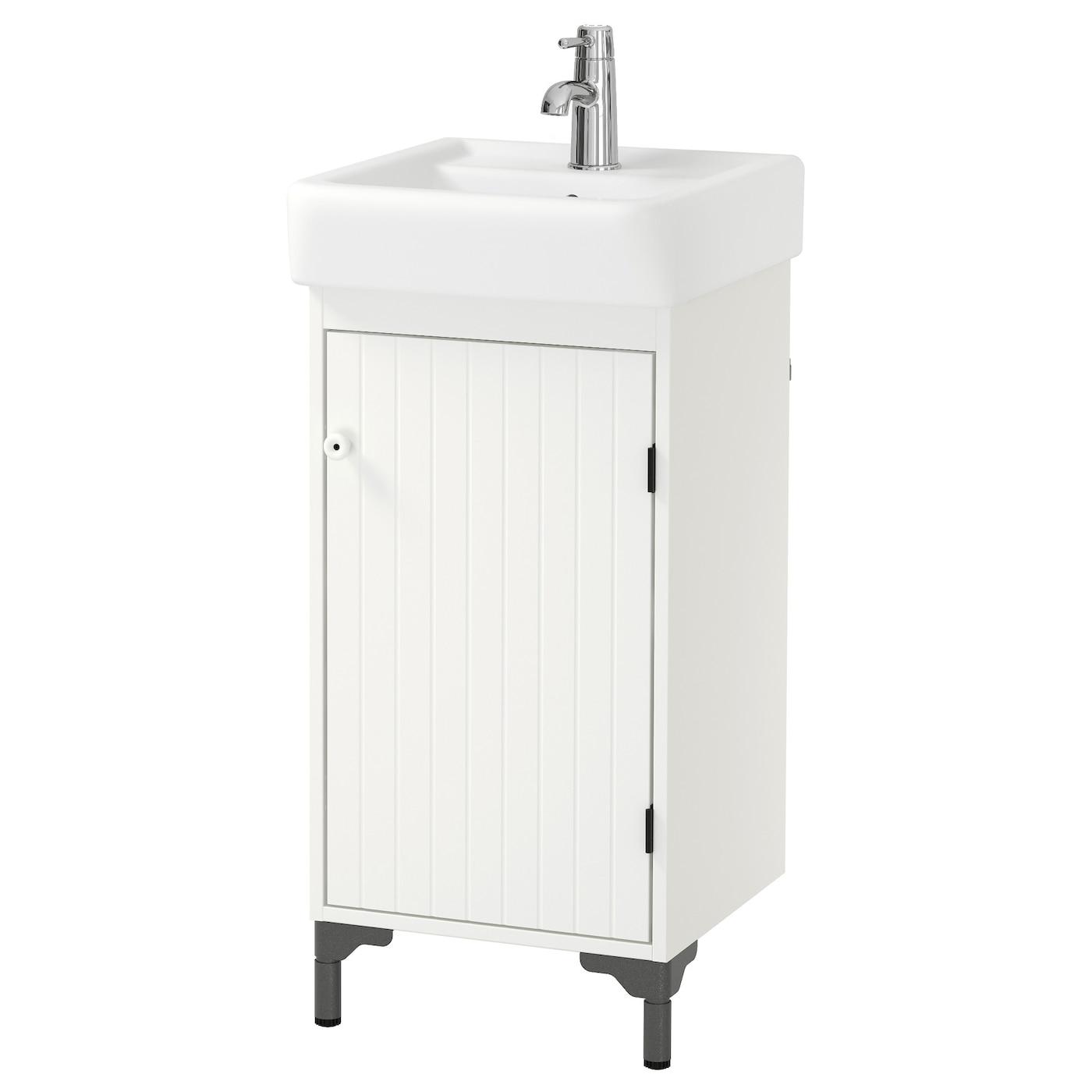 SILVERÅN/HAMNVIKEN Wash-basin cabinet with 1 door White 43 x 45 x 91 ...